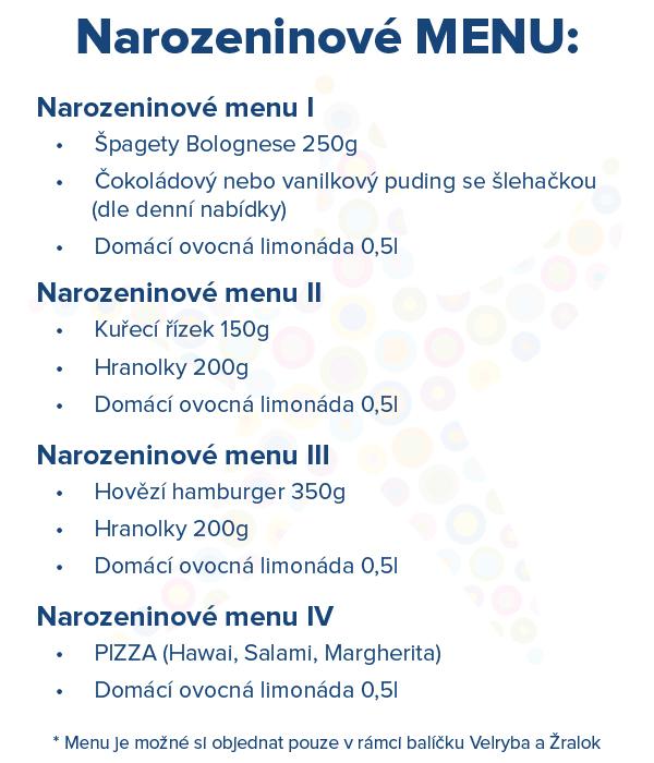 oslava narozenin menu Dětské narozeninové oslavy v Aquapalace Praha — Aquapalace oslava narozenin menu