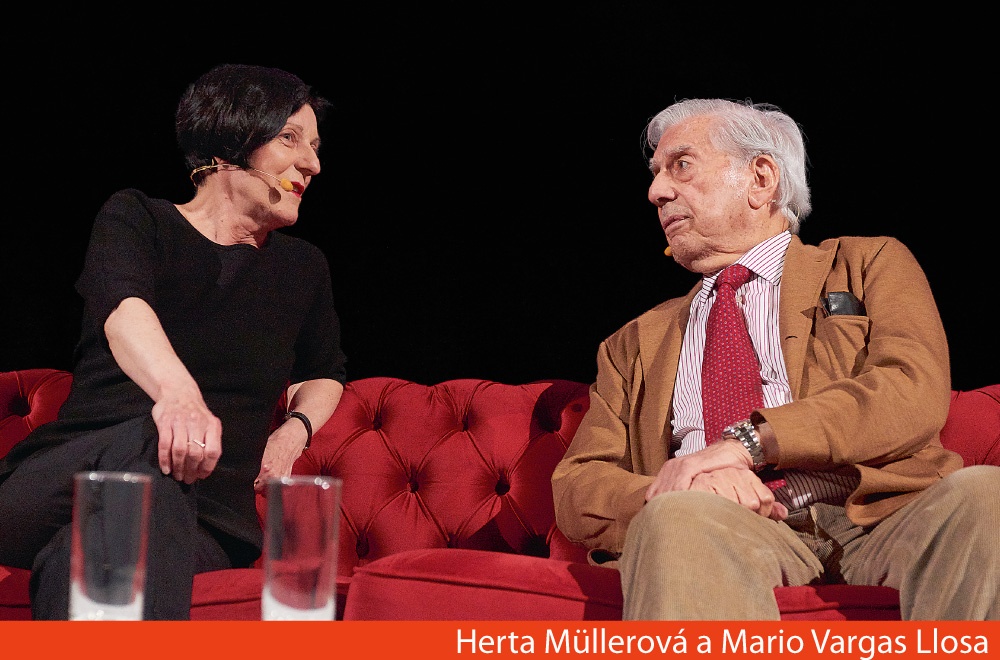 Herta Mullerová a Mario Vargas Llosa