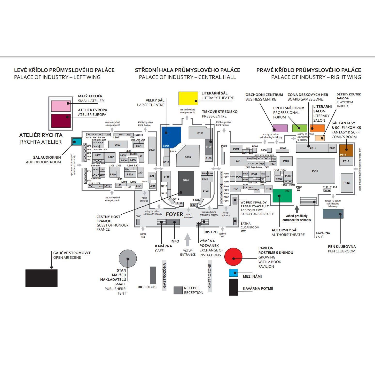 Orientační mapa veletrhu